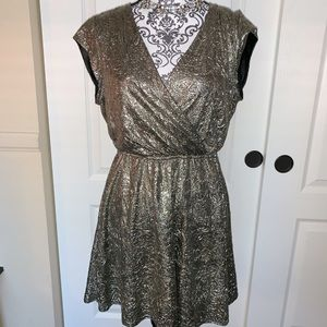 GB Metallic Gold Cocktail Dress